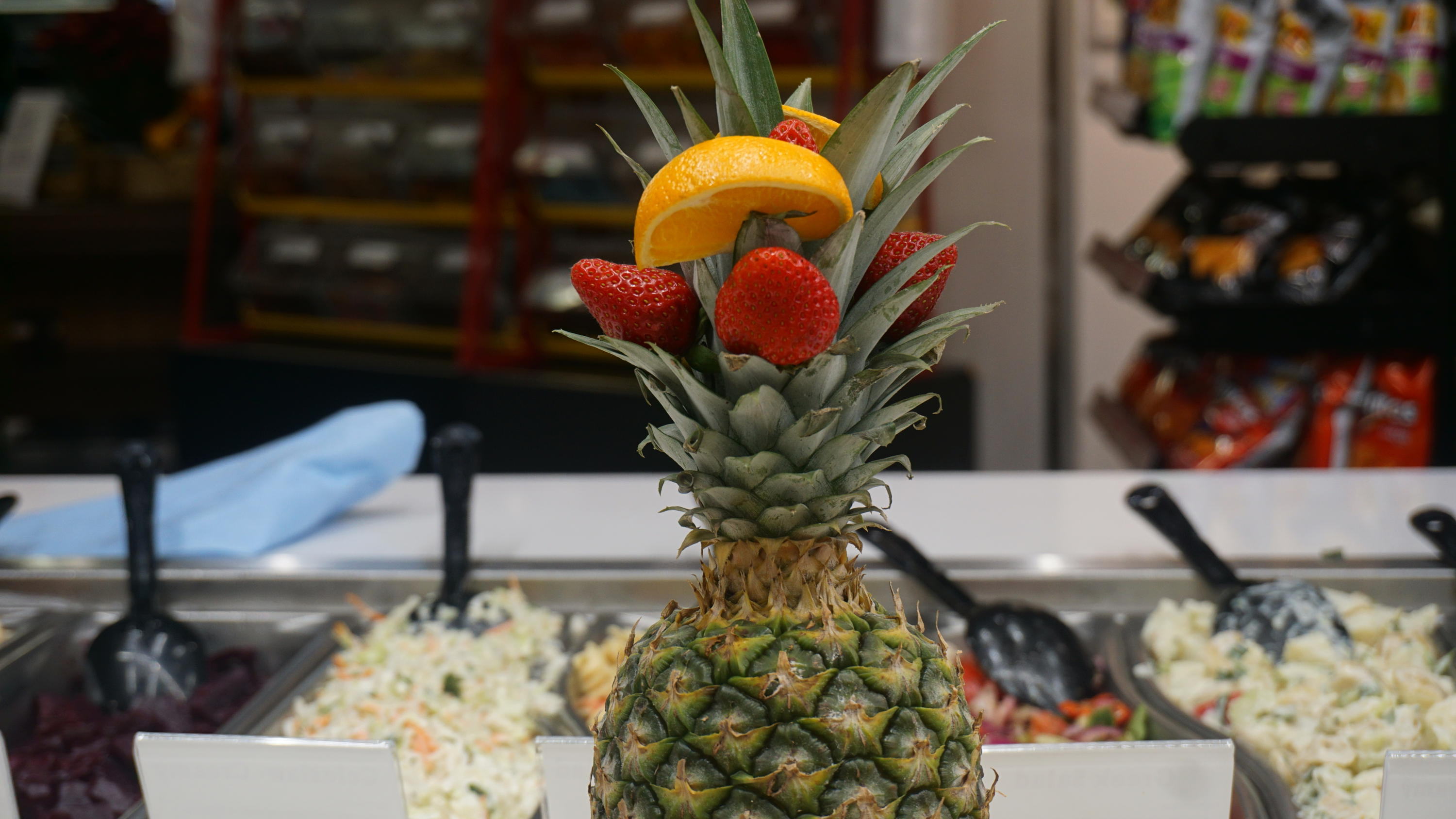 Pineapple in residence cafeteria