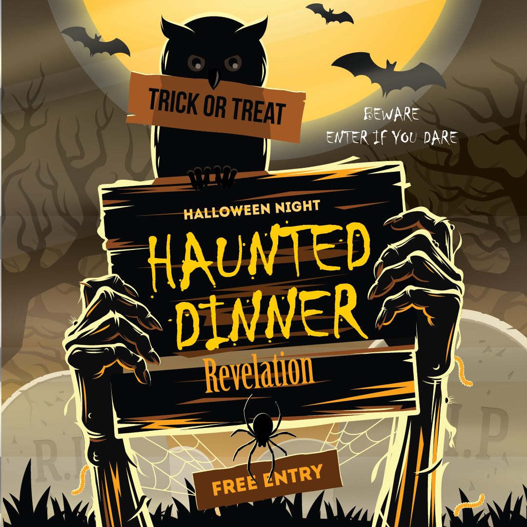 REVelations Haunted Dinner, Enter if you dare. free entry