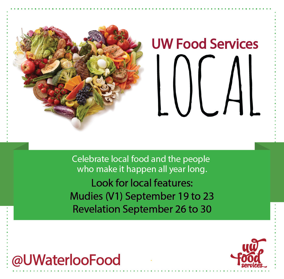 UW Food Services Local Celebrate local food and the people who make it happen all year long