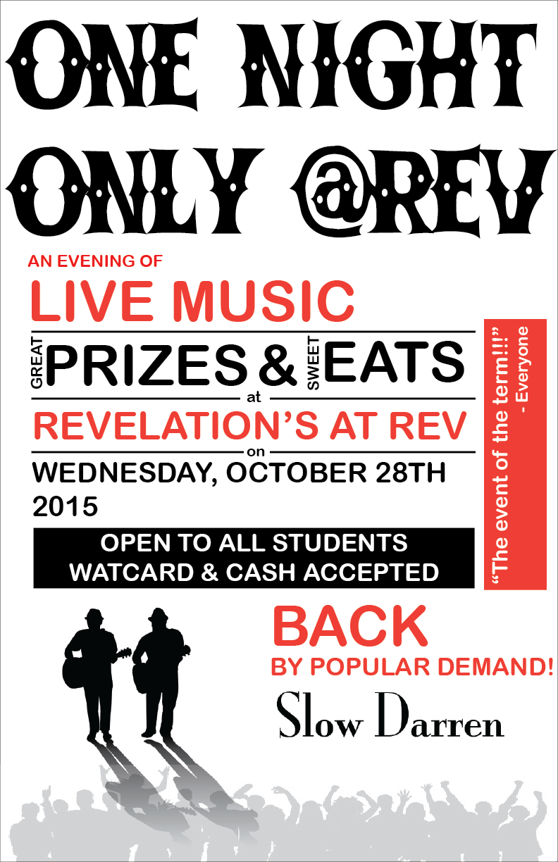 Live music prizes and eats Oct 28 at REV