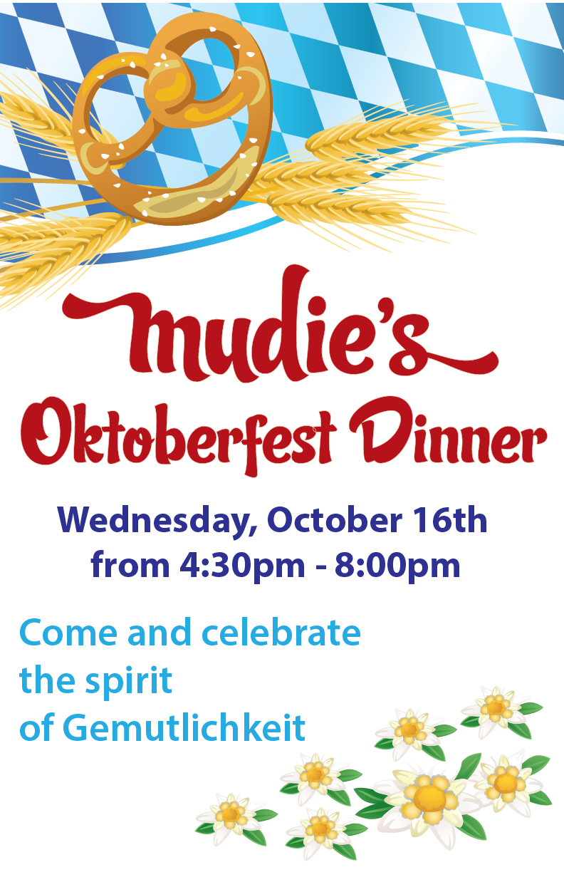 Oktoberfest dinner at Mudies