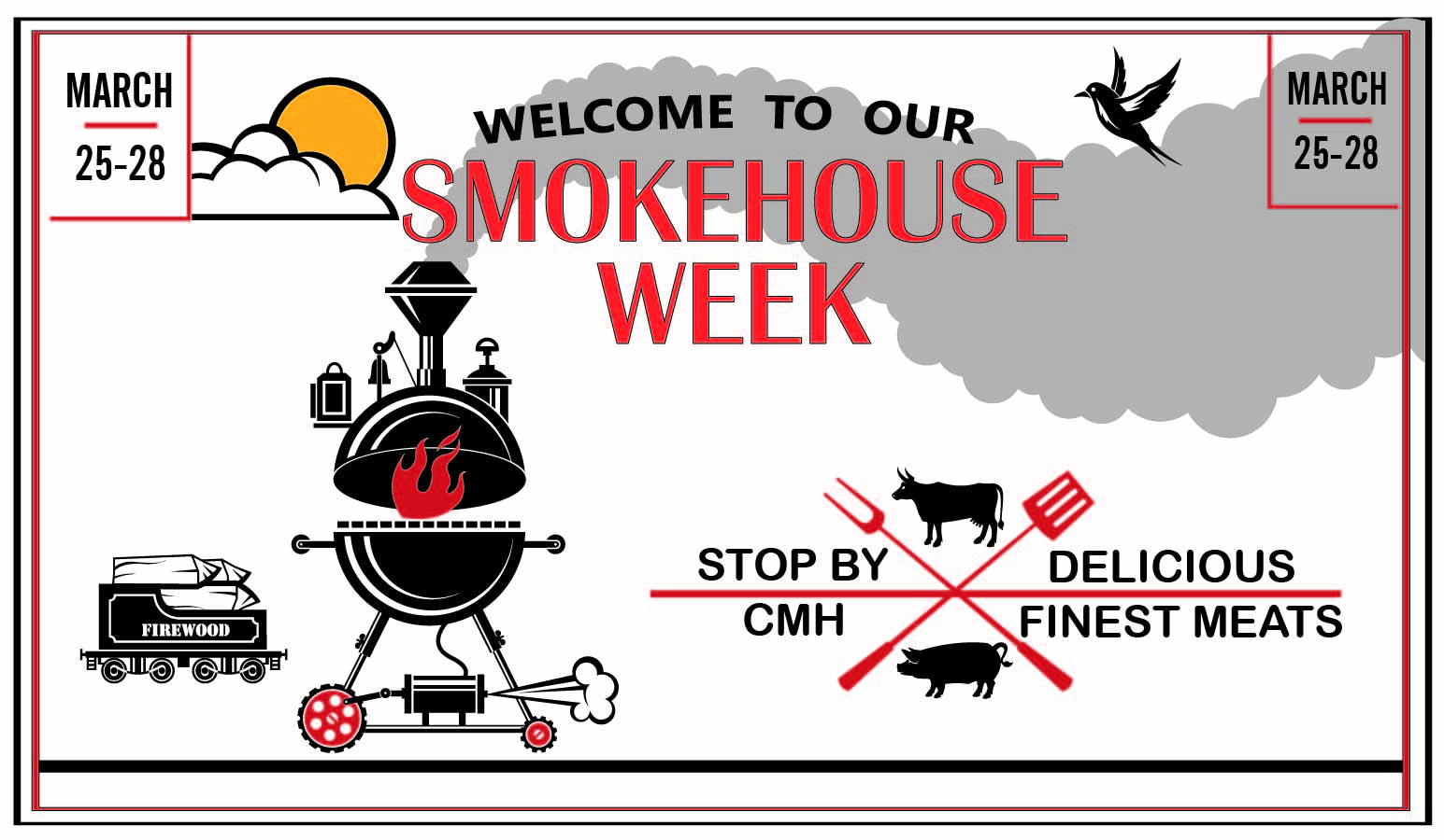 Smokehouse week March 25-28 at the Market in UWP