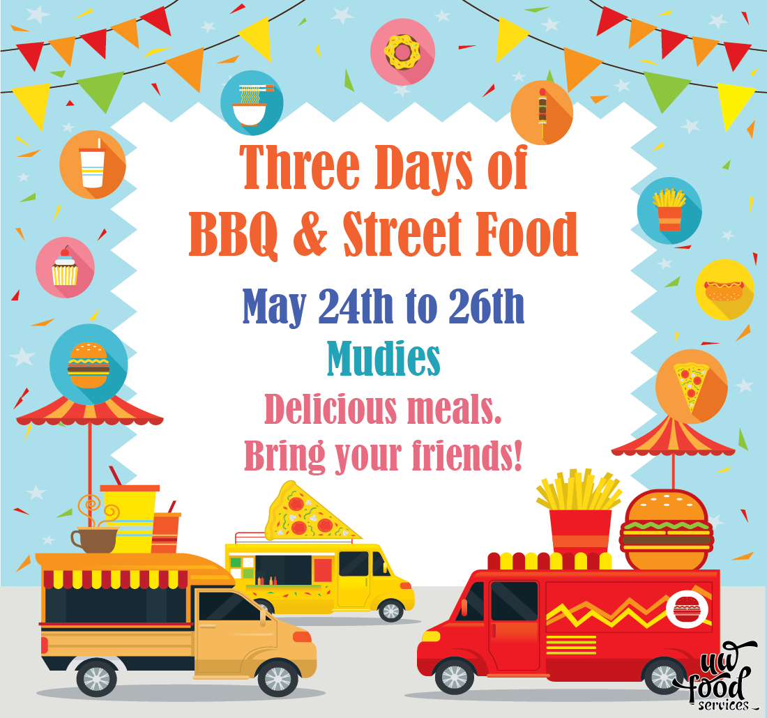 Three days of BBQ and street food May 24 to 26