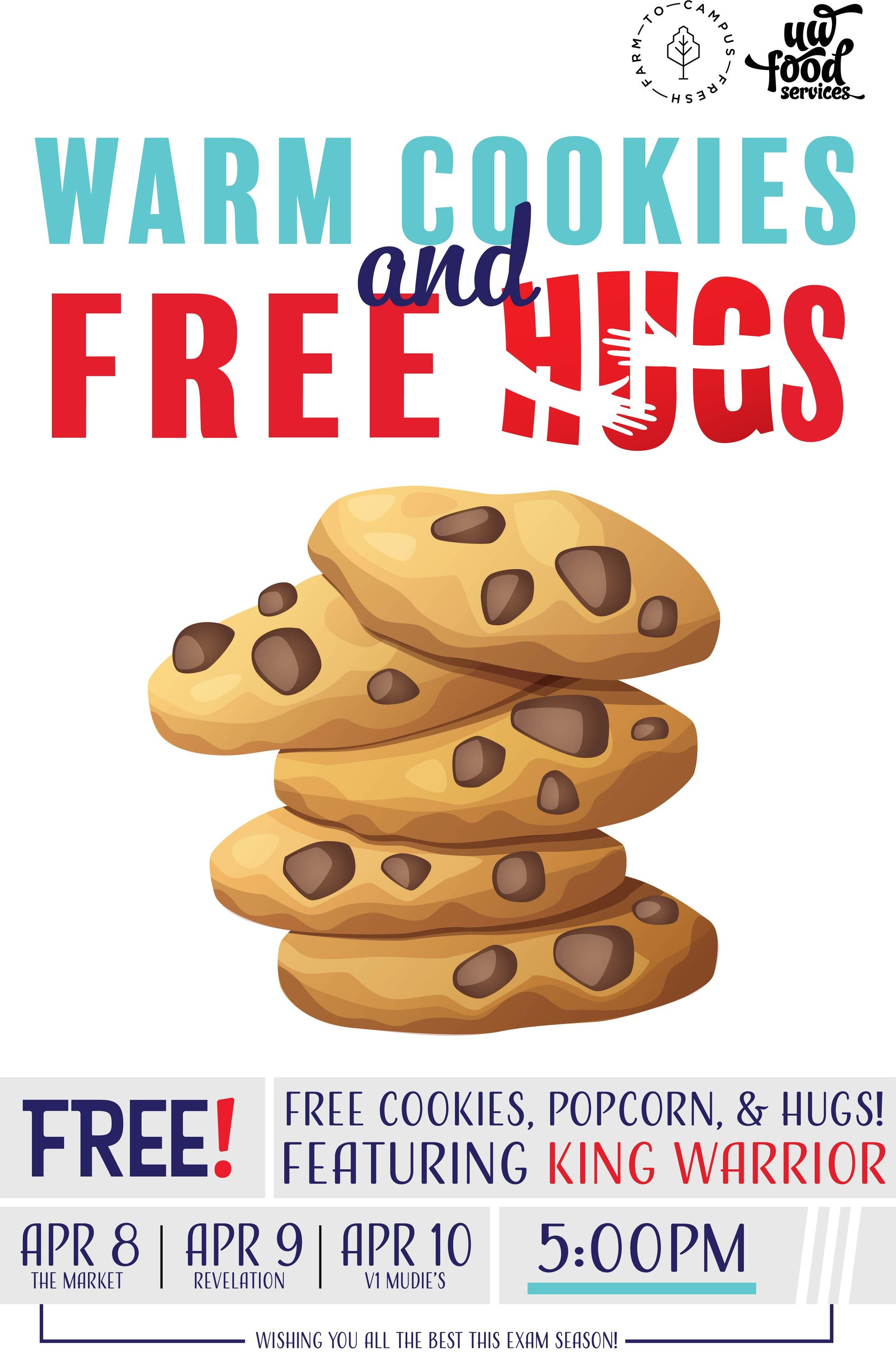 Warm cookies & Free Hugs FREE