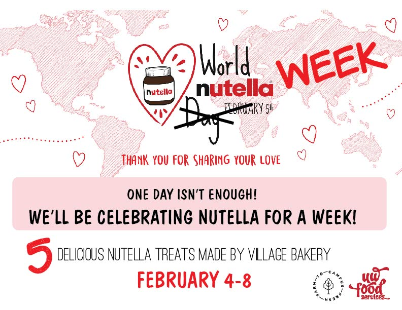 Celebrate World Nutella Week with five delicious Nutella treats made by the Village Bakery