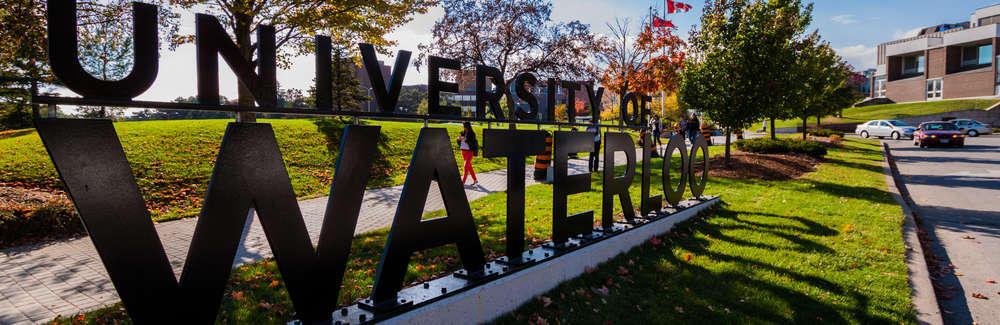 University of Watelroo sign