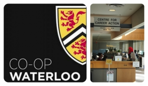 UW co-op logo and CECA desk