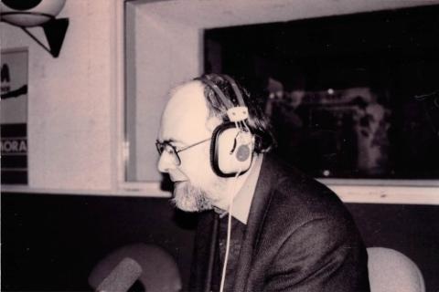 François avec des écouteurs