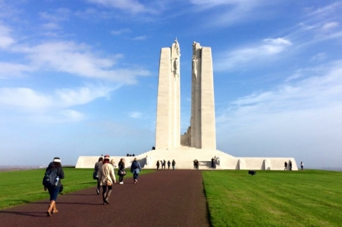 Canadian War Monument at Vimy Ridge in France