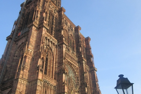 A gothic style cathedral in Strasbourg, France