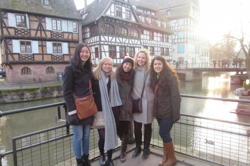 UWaterloo students visiting Strasbourg in France