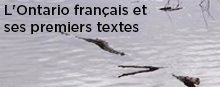 L'Ontario francais et ses premiers textes