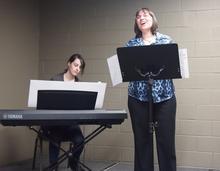 Tara Collington singing