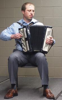 Mikalai Kliashchuk and his accordion