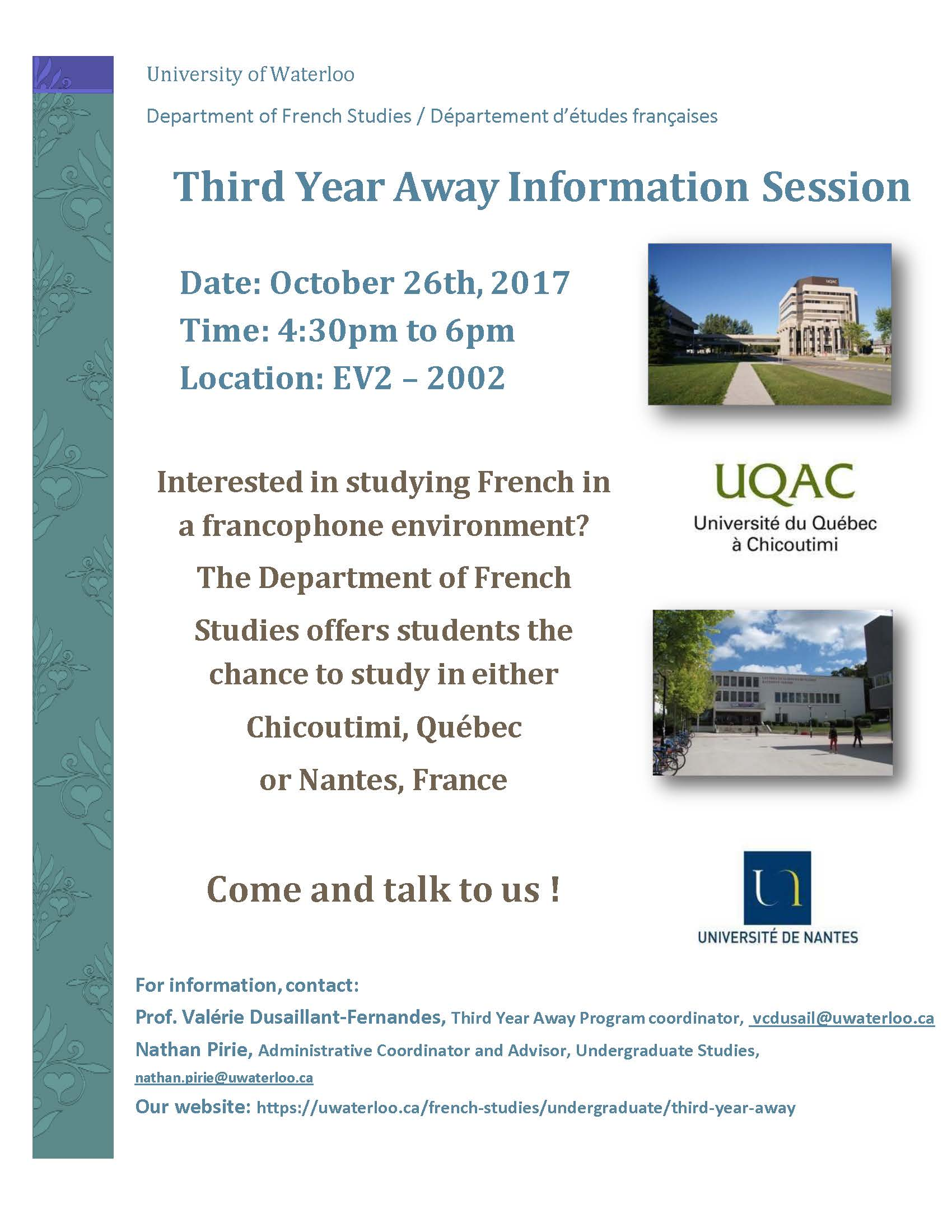 Information meeting poster