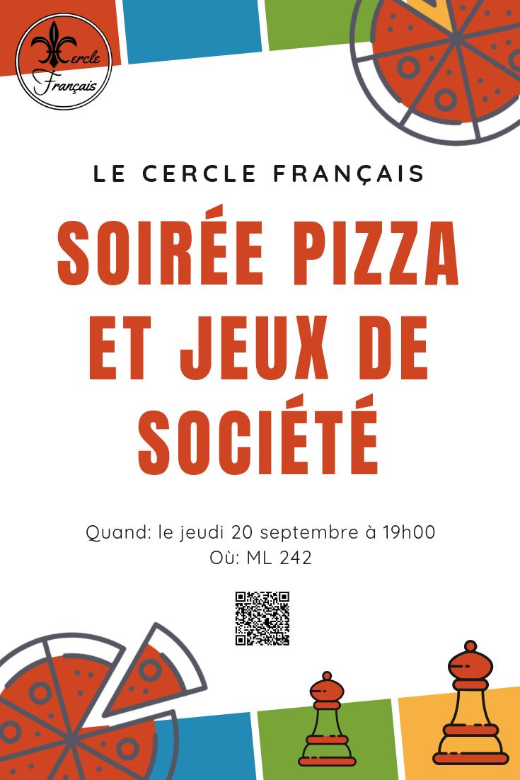 Soirée pizza et jeux de société