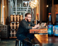 Jonathan Laurencic co-foundef and Director of Operations for Elora Brewing Company