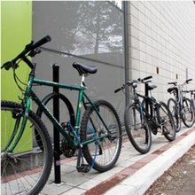 bicycled lined up against an Environment building