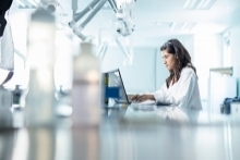 Girl working in lab