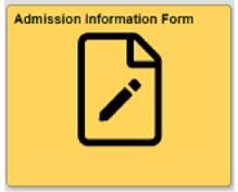 Admission information form tile