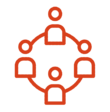 icon of network of people