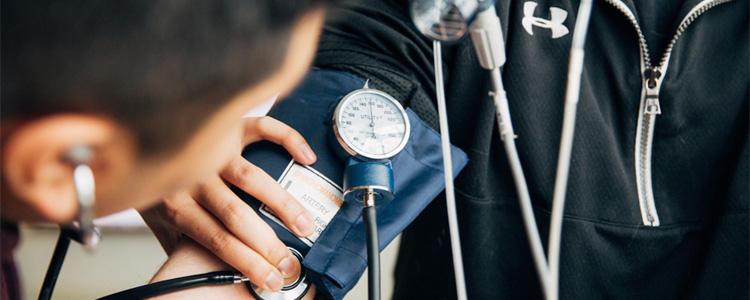 A blood pressure check.