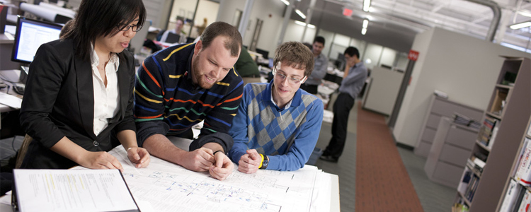 Students and prof in the Architectural Engineering program at the University of Waterloo.