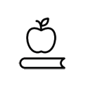 apple on book icon