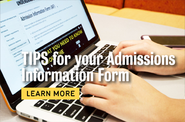 Tips for your Admission Information Form