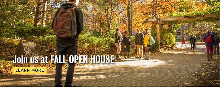 Register today to attend Fall Open House