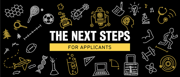 Next steps for applicants banner