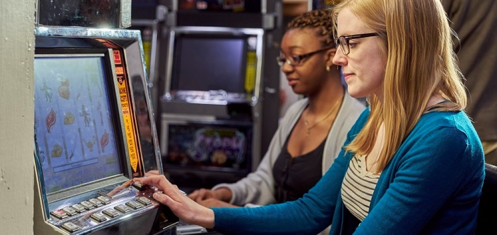 Photo of slot machine being played