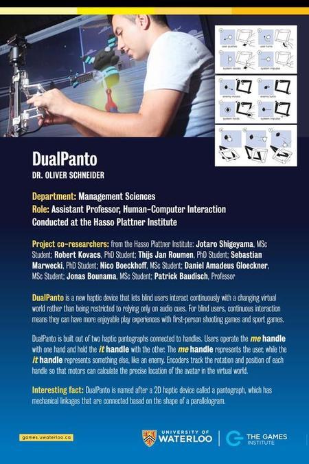 DualPanto Poster