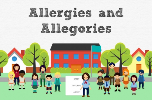 Allergies and Allergories starting page screenshot