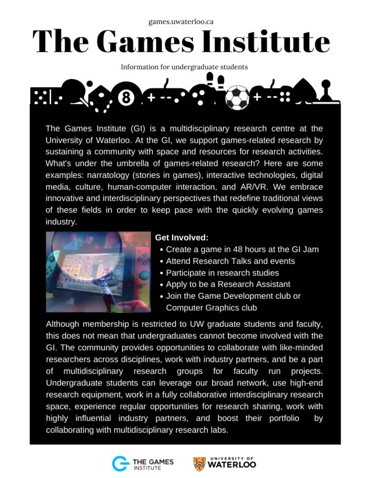 Games Institute Undergrad Info Sheet