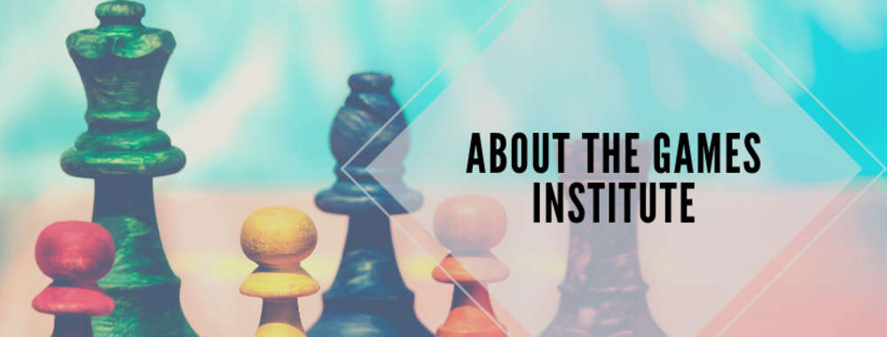 Games Institute with chess pieces