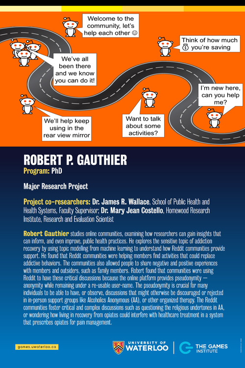 Addiction Recovery and Online Communities poster