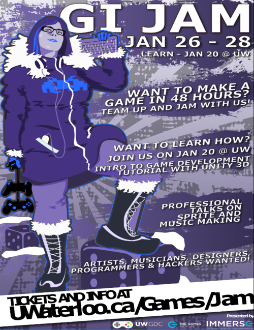 Game Jam Winter 2018 Poster
