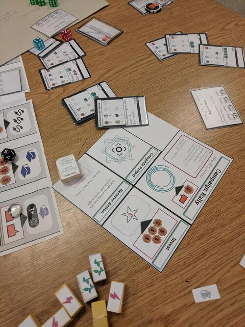 Early printed prototype of Energize