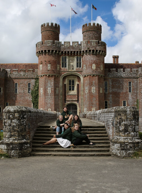 Dr. Bednarski's students at Herstmonceux Castle