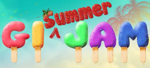 GI Summer Jam Strawberry Icecream Banner