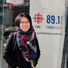 Tina Chan smiling outside CBC studio