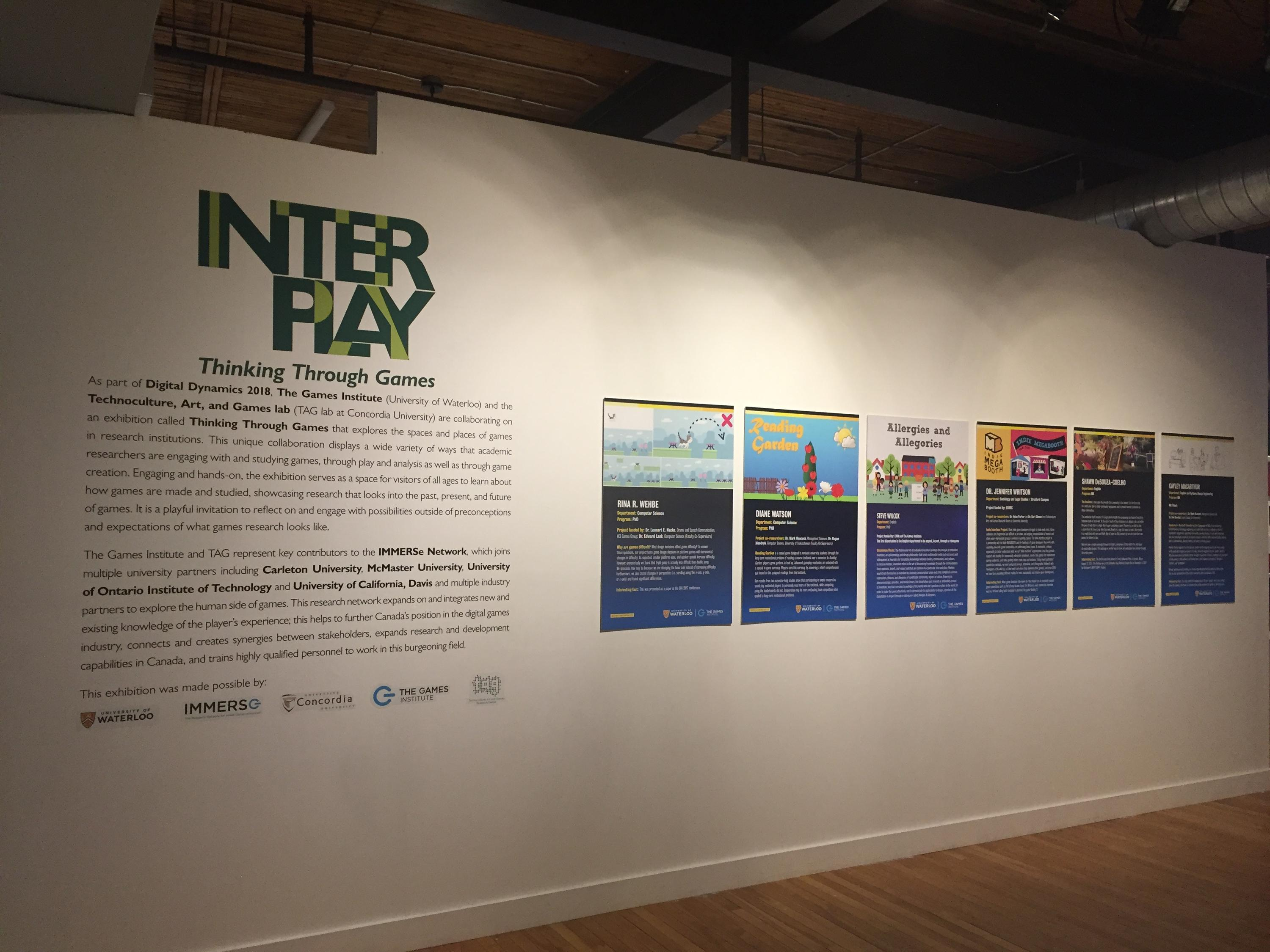 INTERPLAY Exhibit Title Wall at THEMUSEUM
