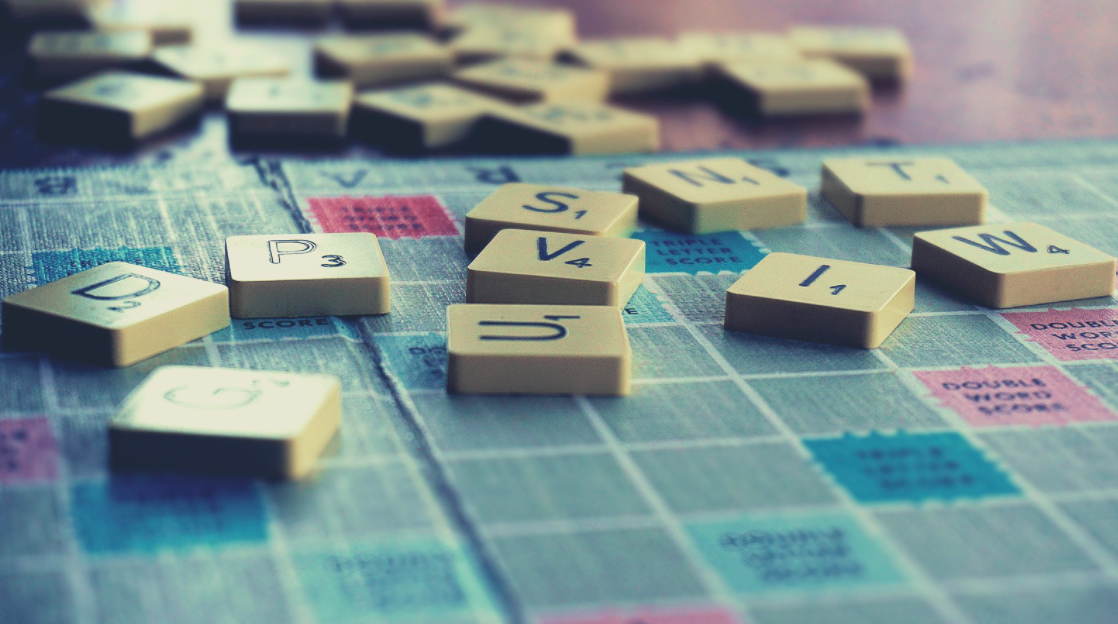 Stock photo of scrabble tiles