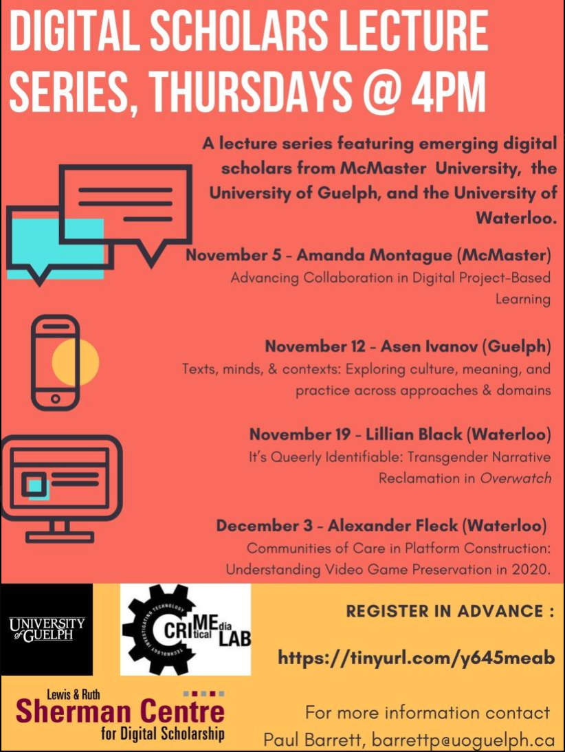 Digital Scholar Lecture Series Poster