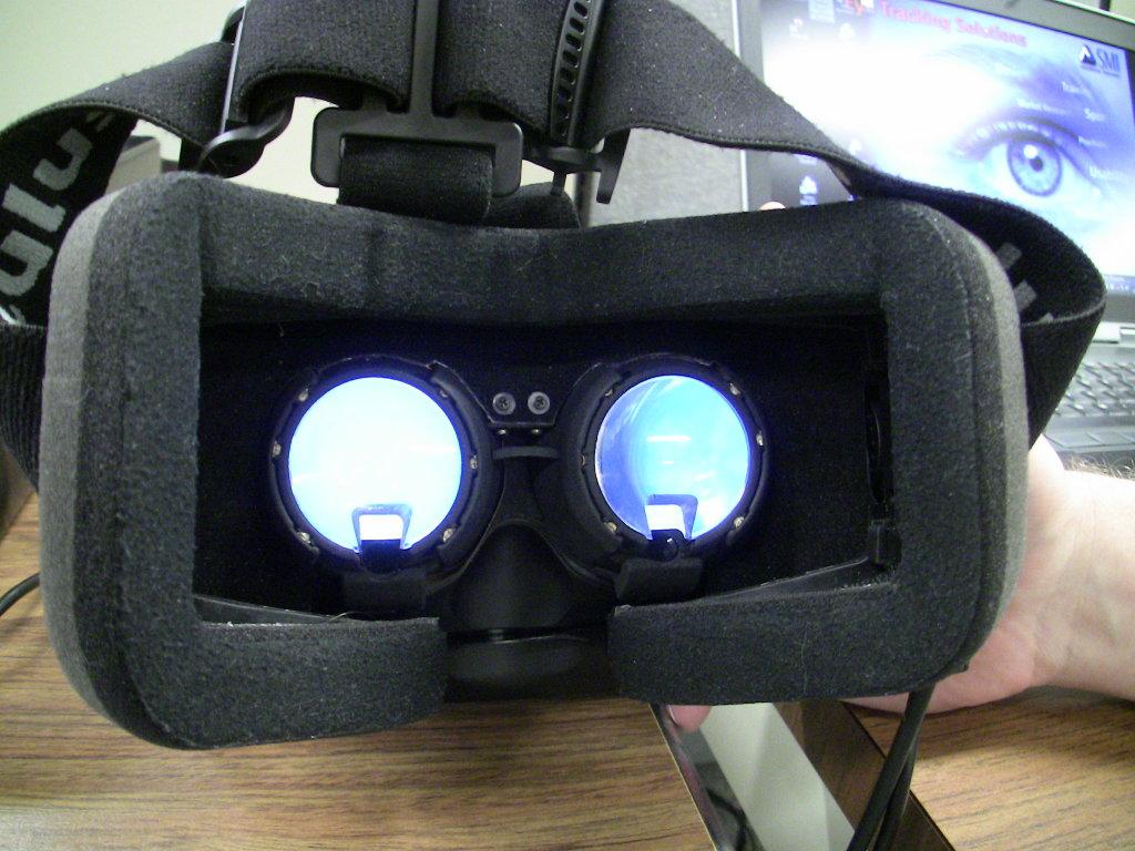 Oculus Rift with eye tracker