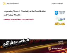 Improving Student Creativity with Gamification and Virtual Worlds