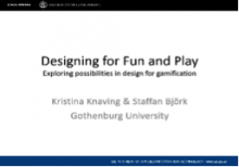 Designing for Fun and Play