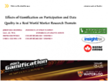 Effects of Gamification on Participation and Data Quality