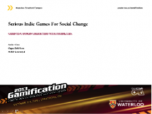 Serious Indie Games for Social Awareness
